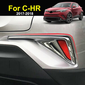 For Toyota C-HR CHR 2016 2017 Car Rear Fog Light Trim Tail Lamp Frame Cover 2PCS