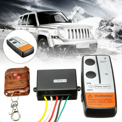 12V 75FT Electric Wireless Winch Remote Control Switch Kits For Jeep Truck ATV