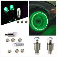 4Pcs Green LED Car SUV Wheel Tyre Tire Air Valve Stem Caps Decoration Light Lamp