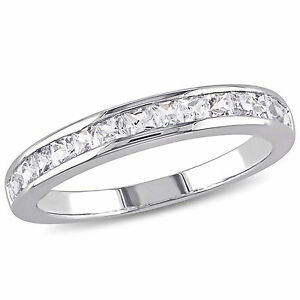 Sterling Silver Created White Sapphire Eternity Ring