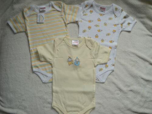 Schnizler 3er Pack Baby Bodys Gr.62//68 NEU