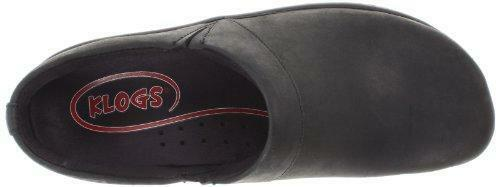 Klogs Mission - Leather Clog - Many colors Black Oiled - 9 Wide