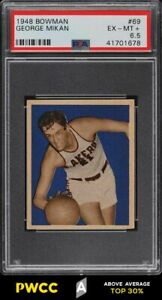 1948-Bowman-Basketball-George-Mikan-ROOKIE-RC-69-PSA-6-5-EXMT-PWCC-A
