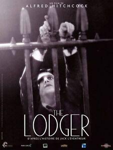 Affiche-40x60cm-THE-LODGER-1927-Alfred-Hitchcock-June-Ivor-Novello-R2010-NEUV