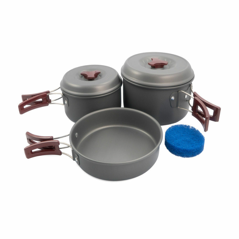 Aluminum Cookware Cooking Set 150mm 0.75L Pot 170mm 1.5L Pot 180mm Frying Pan