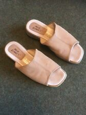 Mod Comfys Ladies Slip On Wedge Shoe In Beige Size 6
