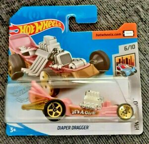 Mattel-Hot-Wheels-Panal-Dragger-Rosado-Nuevo-Sellado