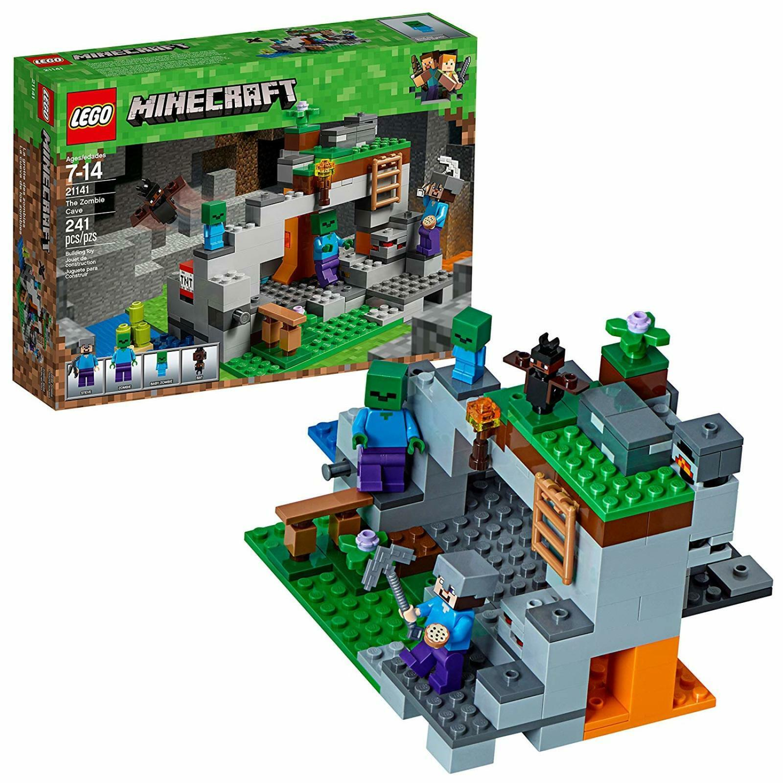 LEGO Minecraft The Zombie Cave Building Kit 241 pcs Sealed Kids Toy Gift NEW