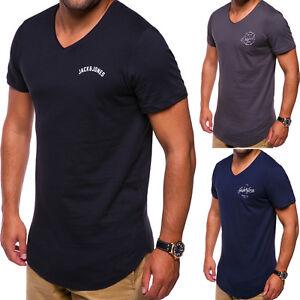 175e9744567be JACK & JONES Oversize T-Shirt V-Neck Oval Schwarz/Weiß/Navy ...