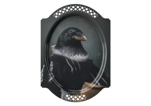 IBRIDE LE CORBEAU CROW RECTANGLE TRAY BRAND NEW WITH ORIGINAL PACKAGING
