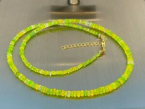 Athiopischer-Opal-green-fire-Kette-Collier-925-Silber-vergoldet-ca-35-Carat