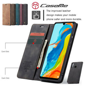 PU Leather Flip Case for Huawei P30 Lite Durable Soft Wallet Cover for Huawei P30 Lite