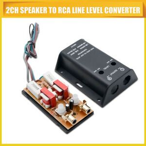 Details about Adjustable High to Low Level Car Speaker to RCA Amp Line Out  Converter UK STOCK