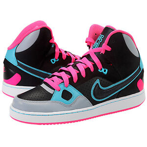 Nike Son Of Force Mid (Gs) Black Grey Pink Trainers Shoes UK- 3.5 4 ... efe8937734b