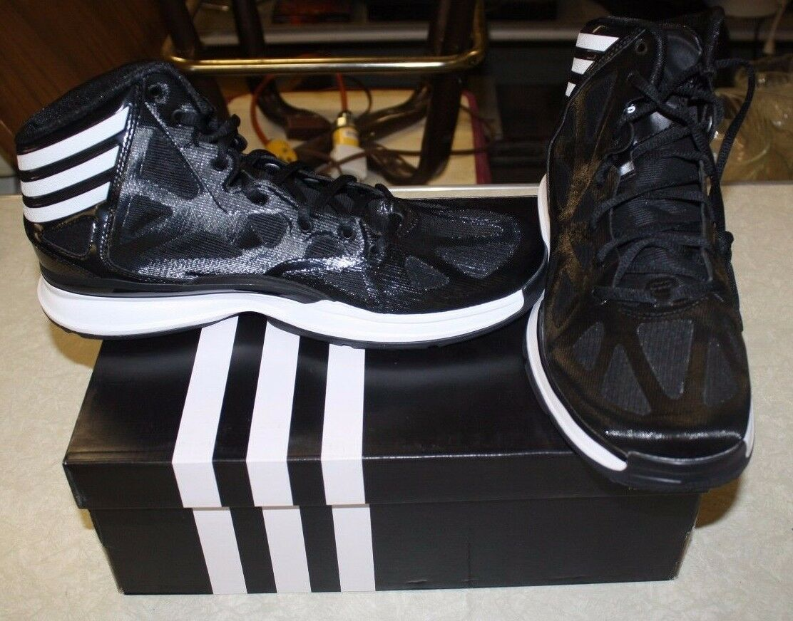 ADIDAS CRAZY SHADOW 2 Q33394 SIZE WOMENS 12 BLACK/WHITE FREE SHIPPING NEW IN BOX