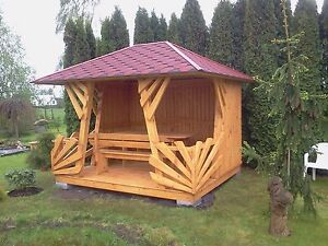 gartenhaus gartenlaube pavillon blockhaus gartenh tte holz ebay. Black Bedroom Furniture Sets. Home Design Ideas