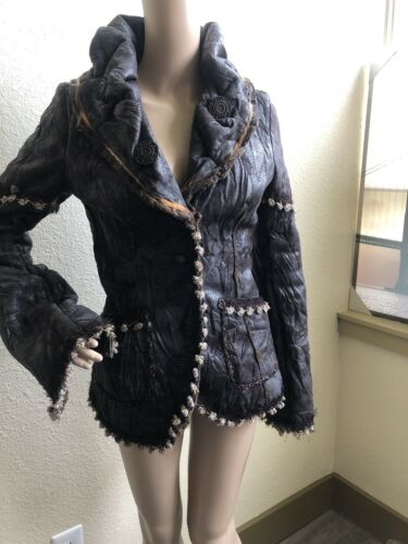Save The Queen  Shearling Leather Coat 38