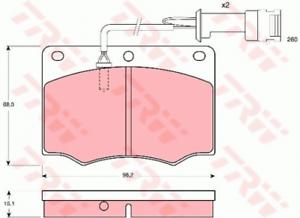 TRW GDB691 Bremsbelagsatz Scheibenbremse Bremsbeläge Bremsklötze