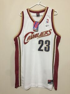 Details about 2003 - 04 Nike Swingman LeBron James Cleveland Cavaliers White Rookie Jersey NWT