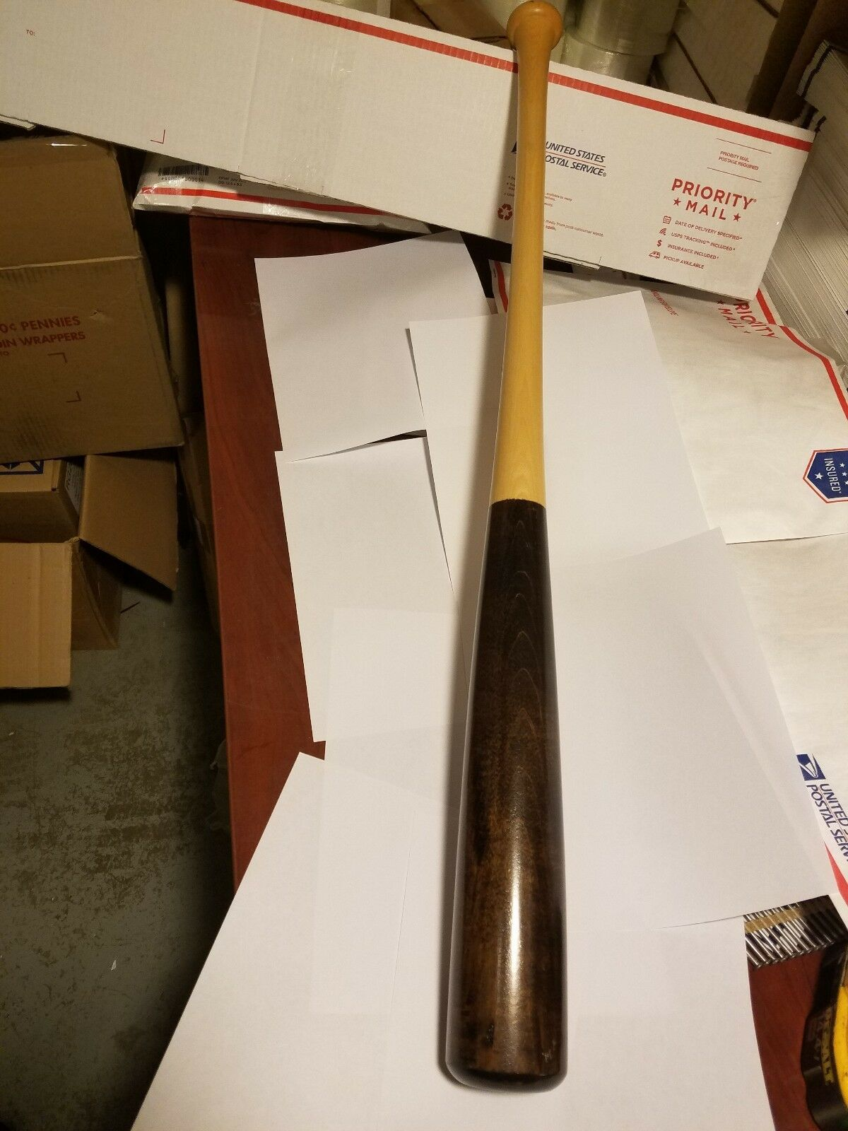 New Brown White Solid (Maple) Wood 32  Game Baseball Bat 32 Inch. Nice Must See