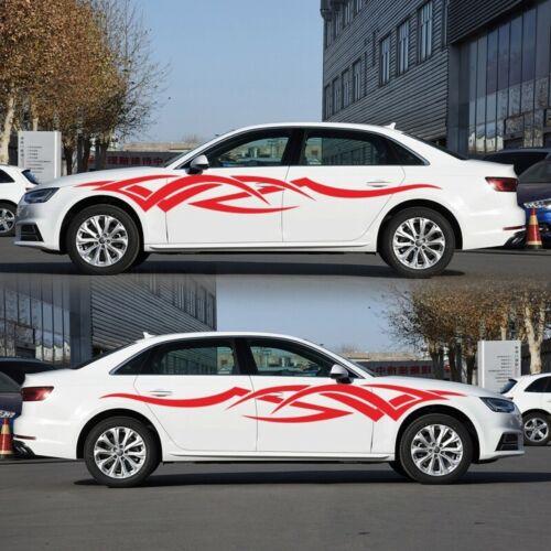 2x 230cm Car SUV Side Body Long Stripe Vinyl Decals Graphics Decor Sticker DIY