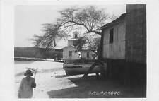 GALAPAGOS ISLANDS, ECUADOR ~ HOMES & BEACH SCENE, REAL PHOTO PC ~ c. 1930's