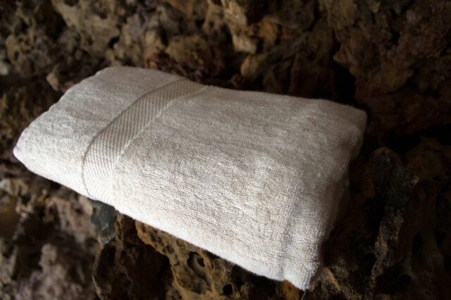 2 Pcs Organic Towel Set 100/% Cotton Natural Color 675 GSM Best For Gift Someone