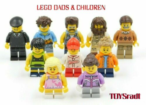10 NEW LEGO MALE DADS /& CHILDREN MINIFIGURES CITY TOWN