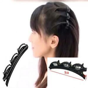 Frauen-Doppel-Haarnadel-Clips-Kunststoff-Haarspange-Kamm-Haarnadel-Haarscheibe