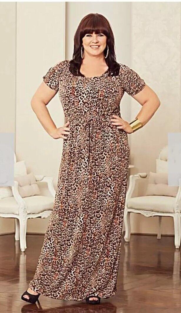 Coleen Nolan Animal Print Maxi Dress Size 12