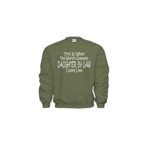 Worlds Greatest DAUGHTER IN LAW Mothers Day Wedding Christmas Gift Sweatshirt