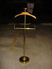 Suit Valet - Butler Caddy Wood & Brass  Stand Wardrobe Coat Hanger--VALET