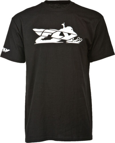 Snowmobile Black Fly Racing Primary Tee Short Sleeve T-Shirt Choose Size
