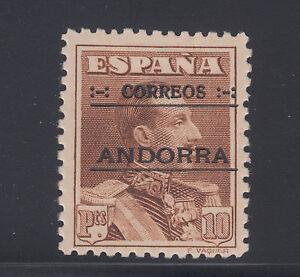 Andorra-Spanish-Sc-12-MLH-1928-10p-brown-black-ovpt-VLH-VF