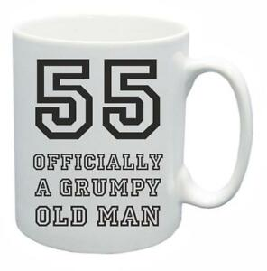 Image Is Loading 55th Novelty Birthday Gift Present Tea Mug Grumpy