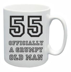 55th Novelty Birthday Gift Present Tea Mug Grumpy Old Git 55 Year