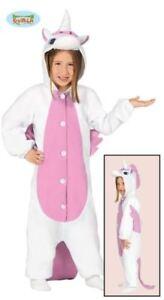unicorno costume carnevale  pigiama UNICORNO da bambino costume rosa da carnevale travestimento ...