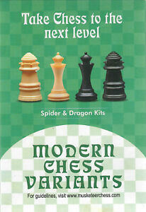 Musketeer Chess Variant Kit - Amazon (Dragon) & Spider - Black & Natural