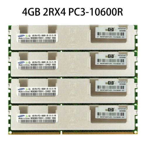 For Samsung 4GB 2RX4 PC3-10600R DDR3-1333MHz 1.5V ECC REG Registered Server RAM