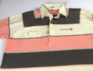 Fairfield-Glade-Polo-Shirt-VTG-Mens-L-XL-Striped-Tennessee-City-La-Mode-Golf