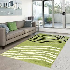 Das Bild Wird Geladen Teppich Flachflor Modern Moda Wohnzimmer Bogen Muster  Gruen
