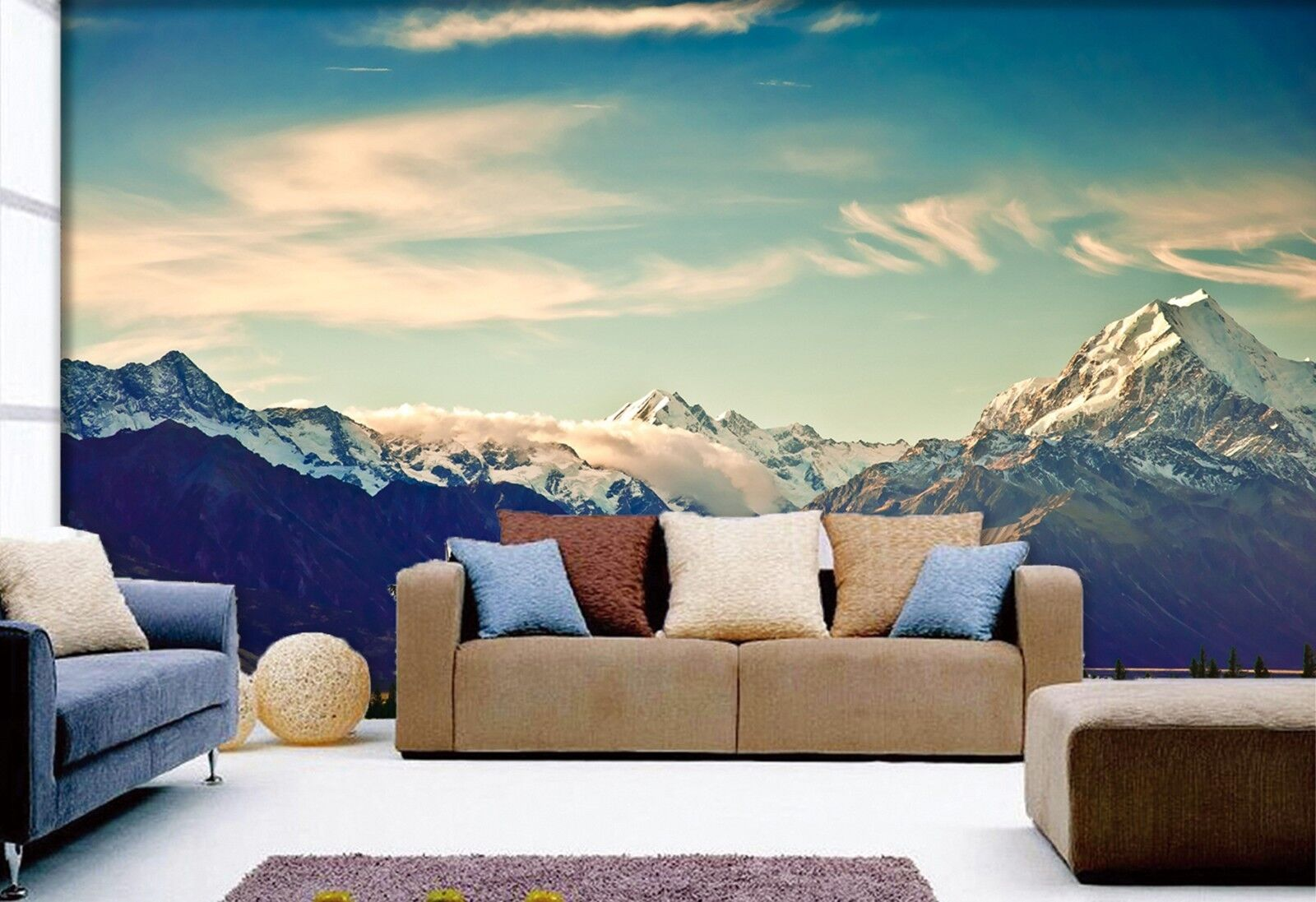3D Blauer Himmel Berg 55 Tapete Tapeten Mauer Foto Familie Tapete Wandgemälde DE
