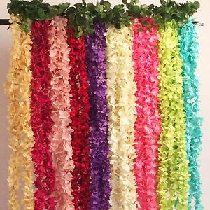 Bouquet-Artifical-Bracketplant-Hanging-Ivy-Vine-Silk-Flower-Home-Garden-Decor-d