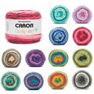 Caron-Chunky-Cakes-Super-Chunky-Yarn-Knitting-Crochet-Crafts-280g-Ball-Wool