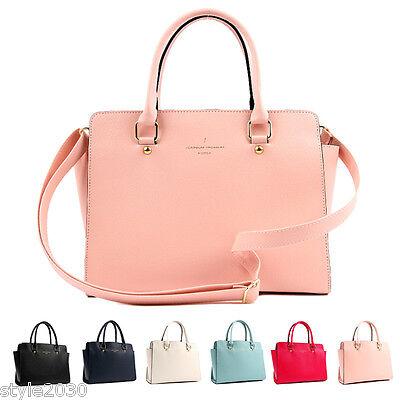 NEW Women Fashion Shoulder Tote Satchel Cross Body Messenger Faux Leather Bag