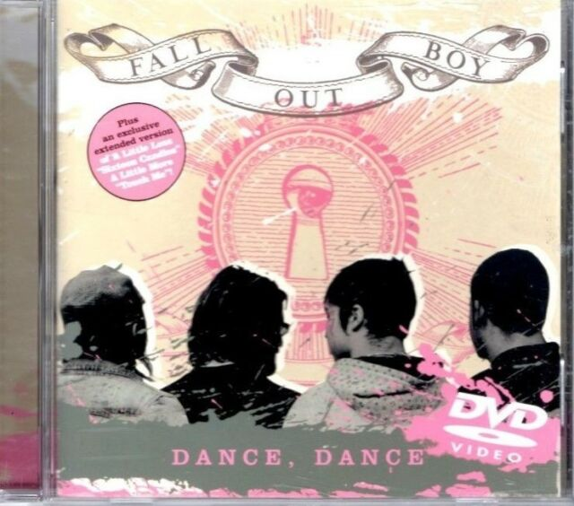 FALL OUT BOY  Dance Dance  2 TRACK DVD  NEW - NOT SEALED