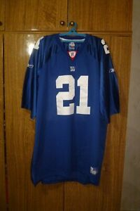 Details about New York Giants Reebok Authentic NFL Jersey #21 Tiki Barber Football Men Size 60