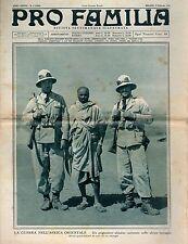 rivista - PRO FAMILIA ANNO 1936 N. 6 PRIGIONIERO ABISSINO