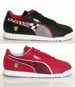 PUMA-Scuderia-Ferrari-Roma-Men-039-s-Fashion-Sport-Shoes-Sneakers-Black-Red-NEW