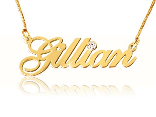 Gold Name Necklace order any name 14k 14ct Personalized Jewelry Name pendant